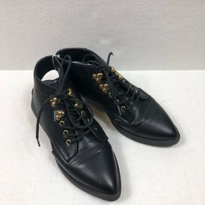 Forever 21 black pointed toe open heel shoes 7